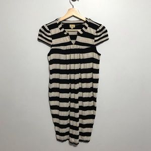 Ella Moss Cream/ Black Striped Dress